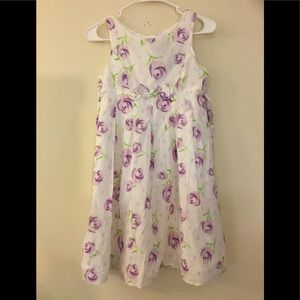 👗 George purple white floral dress with a SHRUG